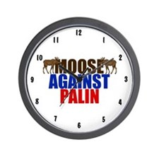 Moose Against Palin Wall Clock