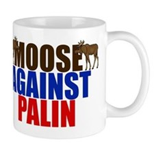 Moose Against Palin Mug