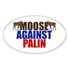 Moose Against Palin Decal