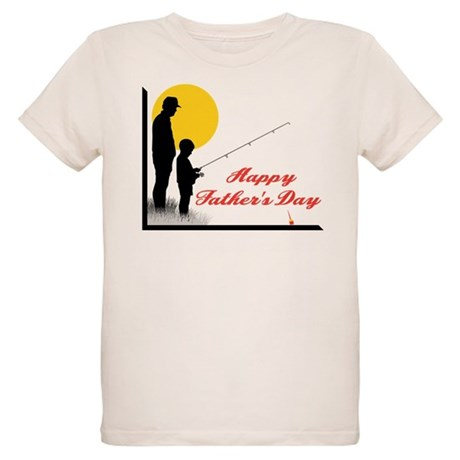 Happy Father's Day Organic Kids T-Shirt