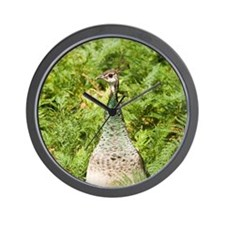 Peahen Wall Clock