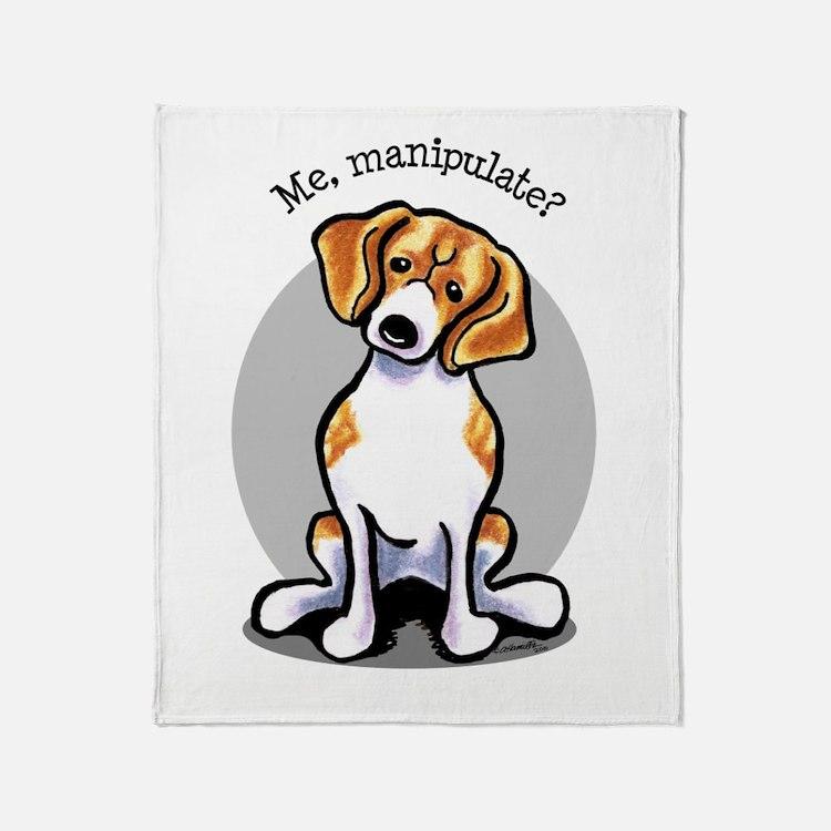 Funny Beagle Throw Blanket