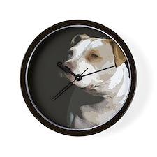 Cute American pit bull terrier Wall Clock