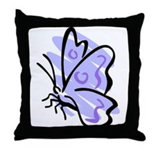 Blue Butterfly2 Throw Pillow