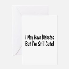 Cool Cure diabetes Greeting Card