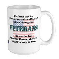 """Thank God for our Veterans"" Mug"