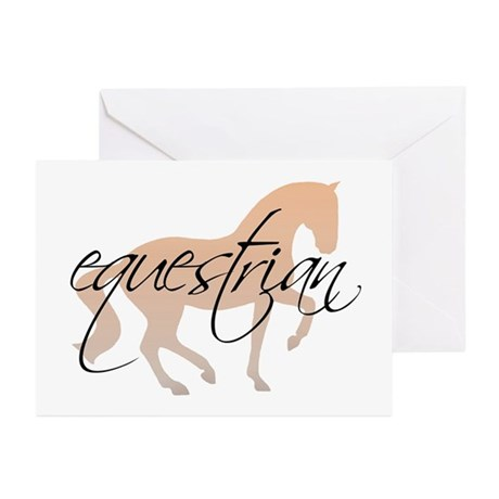 equestrian (w/ piaffe horse) Greeting Cards (Packa