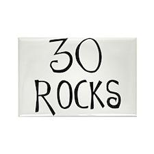 30th birthday saying, 30 rocks! Rectangle Magnet