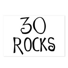 30th birthday saying, 30 rocks! Postcards (Package