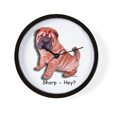 Chinese Shar-pei Puppy Sharp Hey? Wall Clock
