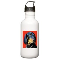 Black and Tan Coonhound Water Bottle