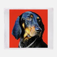 Black and Tan Coonhound Throw Blanket