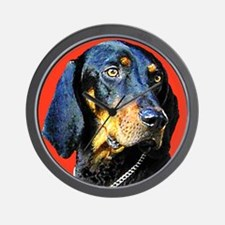 Black and Tan Coonhound Wall Clock