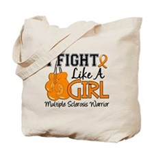 Fight Like A Girl Multiple Sclerosis Tote Bag