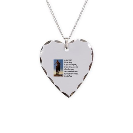 Truth Necklace Heart Charm