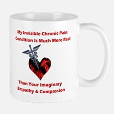 Invisible Chronic Pain Red He Mug