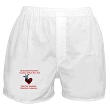 Invisible Chronic Pain Red He Boxer Shorts
