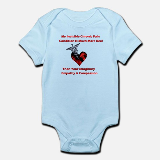 Invisible Chronic Pain Red He Infant Bodysuit