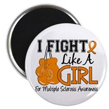 Fight Like A Girl Multiple Sclerosis Magnet