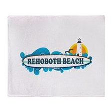 Rehoboth Beach DE - Surf Design Throw Blanket