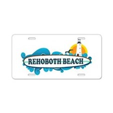 Rehoboth Beach DE - Surf Design Aluminum License P
