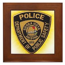 Sierra Vista Police Framed Tile
