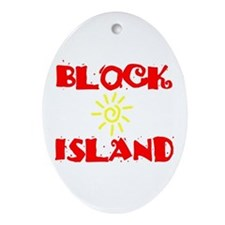 BLOCK ISLAND III Ornament (Oval)