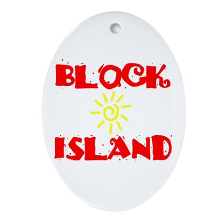 BLOCK ISLAND III Ornament (Oval)