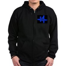 Cool Blackout Zip Hoody