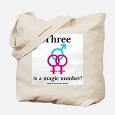 Three is a Magic Number Tote Bag