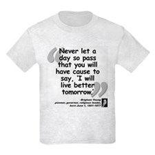 Young Live Quote T-Shirt