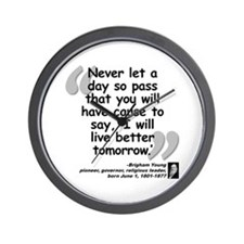Young Live Quote Wall Clock
