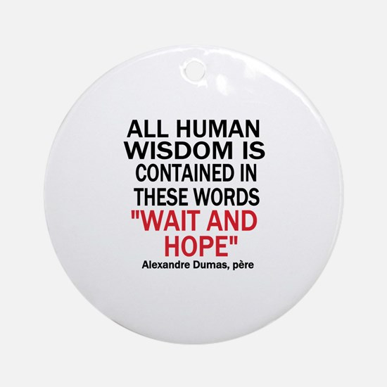 Wait and Hope Ornament (Round)