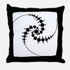 Triple Julia Set Throw Pillow