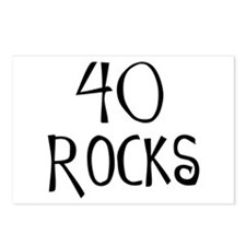 40th birthday saying, 40 rocks! Postcards (Package