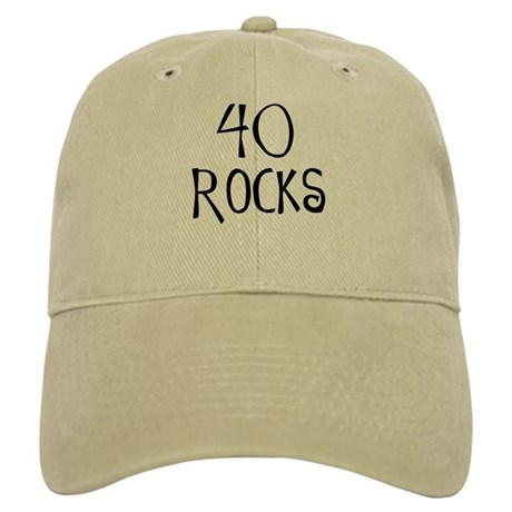 40th birthday saying, 40 rocks! Cap