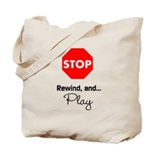 Stop Rewind Play Eli Quote Bag