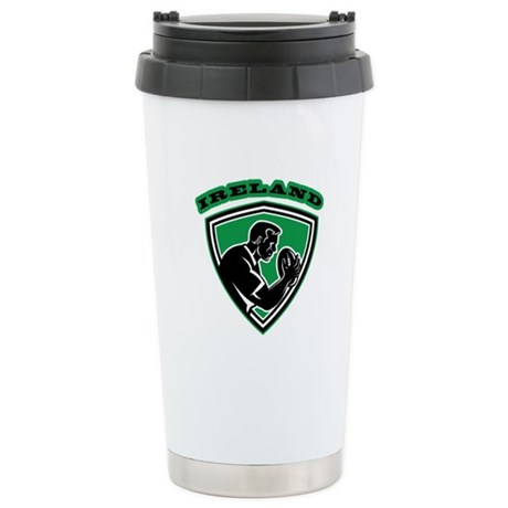 Ireland rugby player Stainless Steel Travel Mug