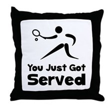 Tennis Served Throw Pillow