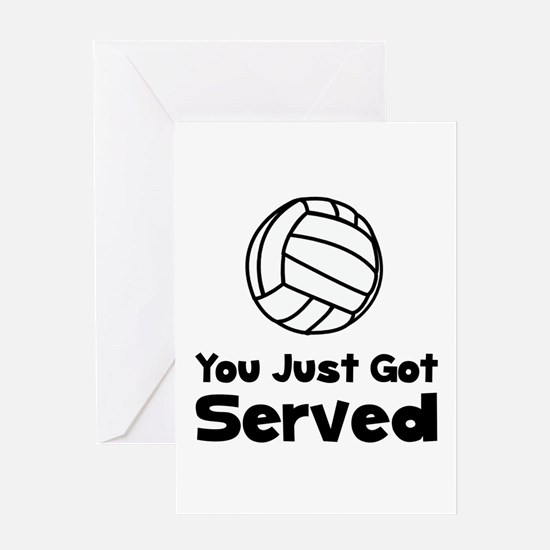 Volleyball Served Greeting Card