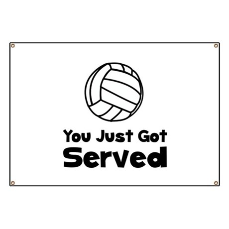 Volleyball Served Banner
