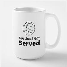 Volleyball Served Large Mug