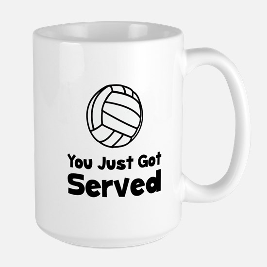 Volleyball Served Large Mug