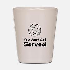 Volleyball Served Shot Glass