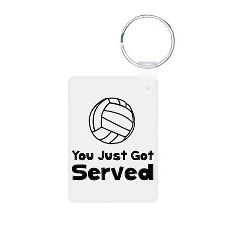 Volleyball Served Aluminum Photo Keychain