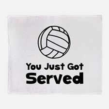 Volleyball Served Throw Blanket
