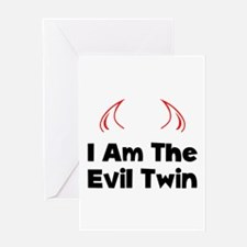 Evil Twin Greeting Card