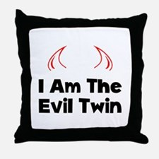 Evil Twin Throw Pillow