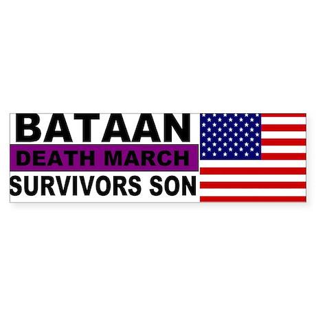Bataan Death MArch Survivors Son sticker