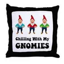 Gnomies Throw Pillow